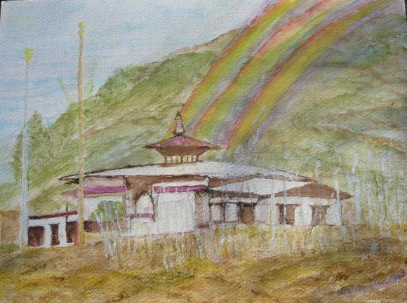 bajo temple bhutan by Paula Keppel Hesselink