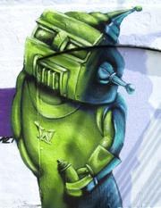 uit het Es komen bizarre krachten... Graffiti, Queens, JMKH