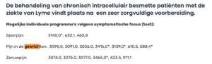 Aanwijzingen voor de behandeling van gewrichts- en zenuwpijn bij Lyme via Bicom
